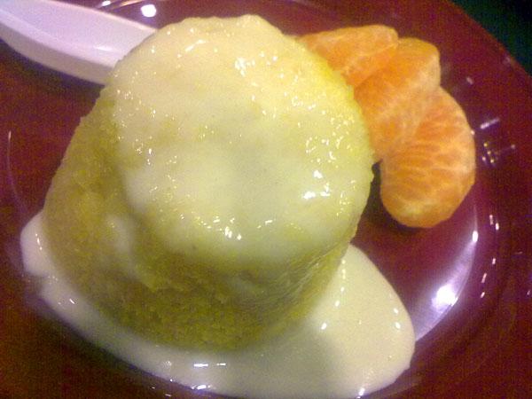 Steamed Mandarin Orange Cake Recipe