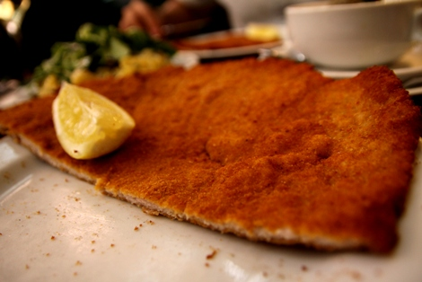Vienna's Figlmüller Schnitzel - Pork Chop Bigger Than My Hands