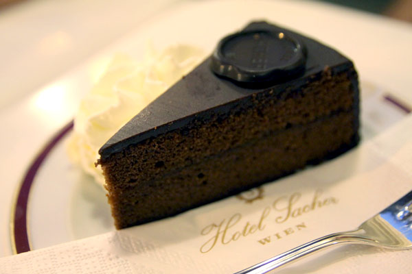 Never leave Vienna without trying the Sachertorte