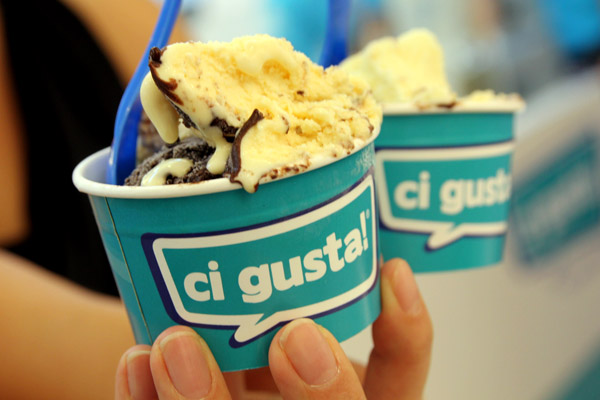 "Ci Gusta! – Italian Gelato which means ""We Like It!"""