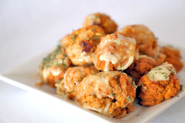 Recipe – Handmade Meatballs with Tasty Cheesy Toppings