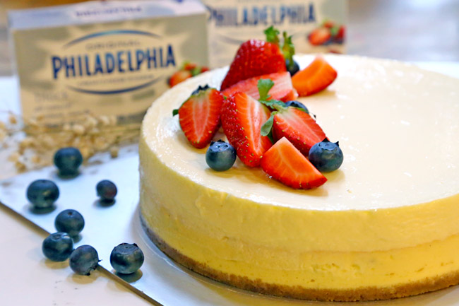 PHILADELPHIA New York-Style Sour Cream Cheesecake Recipe