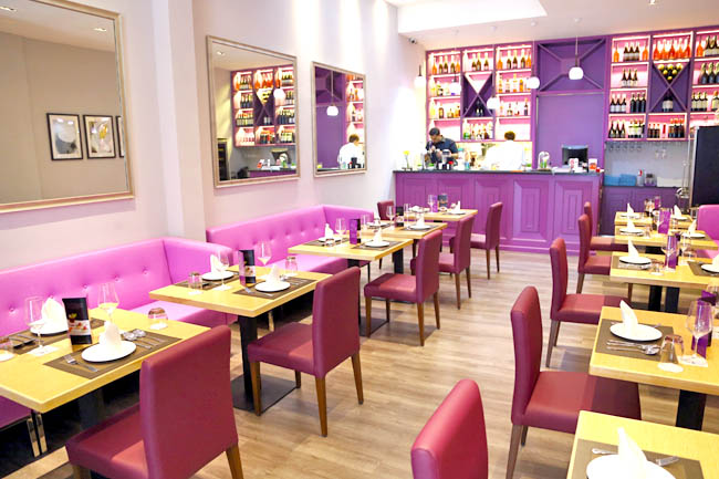 invariably the interior where its walls and furniture in shades of pinkish violet would be a pretty draw giving the restaurant somewhat girly and elegant - Violet Cafe 2015