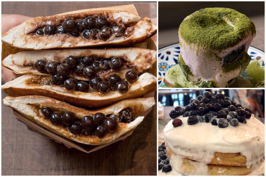 "Benjamin Browns – Bubble Tea Toast, Bubble Tea Pancakes And ""Dirty"" Matcha Sakura Latte"