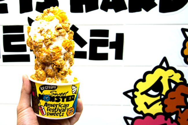 Sweet Monster – Korean Popcorn Ice Cream In Singapore, Reopening At Hillion Mall Bukit Panjang