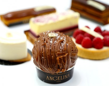 Angelina Paris - Gorgeous Setting. For The Super Rich Hot Chocolate and Mont-Blanc