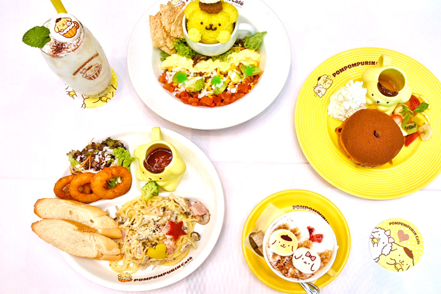 Pompompurin Café Singapore - Cuteness To The Max, Kawaii Garden Theme Cafe At Orchard Central