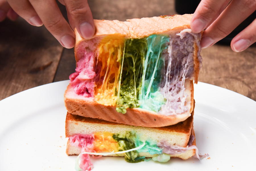 Epicurious Café – Rainbow Cheese Toastie Makes Its Appearance In Singapore