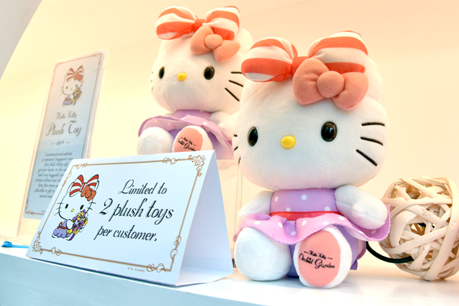 34d6bd343 There is a range of custom Hello Kitty inspired tea blends, plush toys,  grow-it-yourself plant kits, and postcards at the retail corner. 9. Limited  edition ...