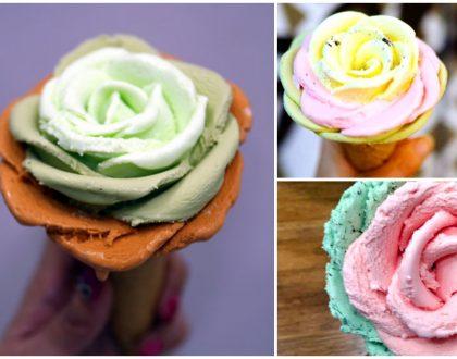 i-Creamy Artisan Gelato – Flower Gelato Done Petal By Petal. So Pretty!