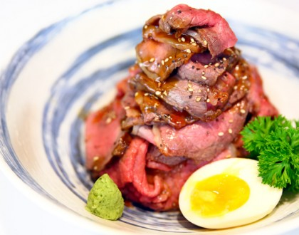 Sandaime Bunji - Awesome Wagyu Round Roast Beef Bowl At Millenia Walk