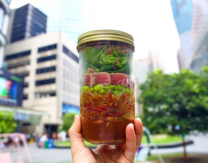 Jar'd - Mason Jar Salad Shop at One Raffles Place