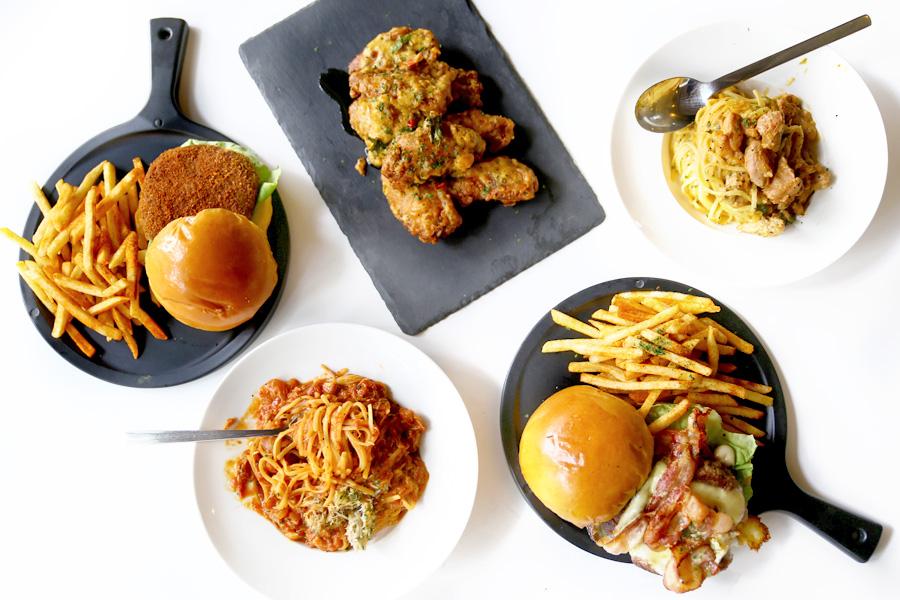 The Workbench Bistro - Hi AMK Folks, You Have Purple Sweet Potato Waffles, Lava Burger, Salted Egg Pasta Near You!