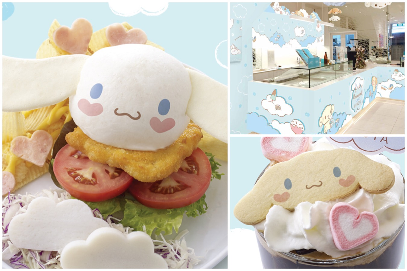 Kumoya – Cinnamoroll Café With Cute Burgers, Desserts And Eclairs, Halal Certified