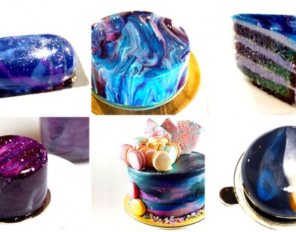 6 Best Galaxy Cakes In Singapore - Simi Also Galaxy, Instagrammable Mirror Cakes