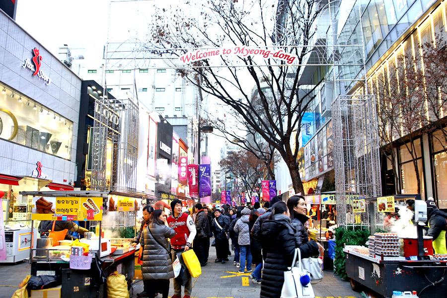 Hasil gambar untuk MYEONGDONG STREET