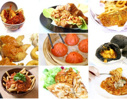 14 Unique Chilli Crab Food In Singapore - Chilli Crab Sauce On Wings, Fries, XLB And Prata