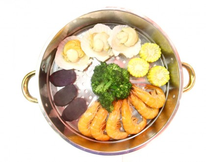 K-Tower – Korean Layered Seafood Tower With Army Stew Steamboat
