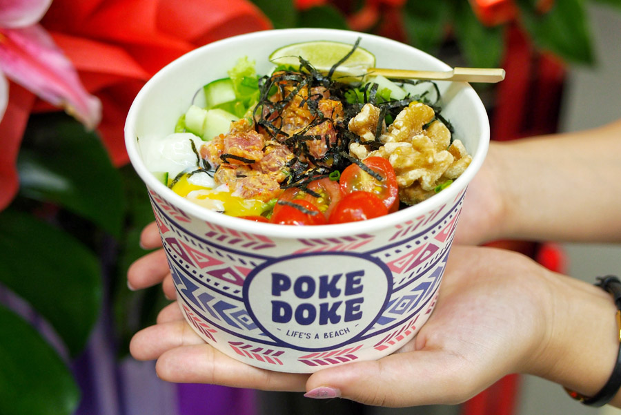 Poke Doke – Spicy And Wasabi Poké Bowls In Singapore, At Millenia Walk