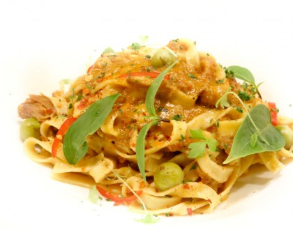 Wild Rocket - Mod-Sin Restaurant Offers Pasta Dishes, From Laksa Ravioli To Thai Curry Fettuccine