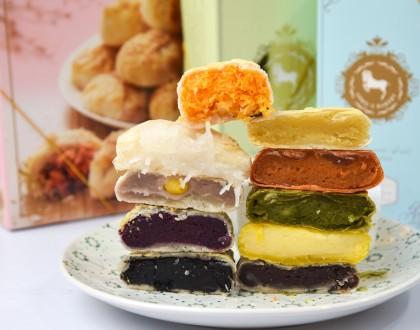 April's Bakery Singapore - Bangkok's Famous Pie Bakery Opens At Tampines. Thai Milk Tea, Green Tea, Taro, Custard Pies