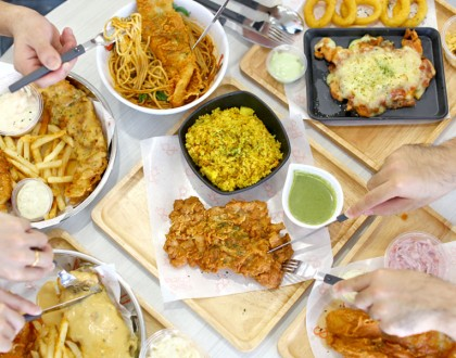 Fish & Chicks – Thai Green Curry Chicken Cutlet, Tom Yum Pasta With Fried Fish At Bedok