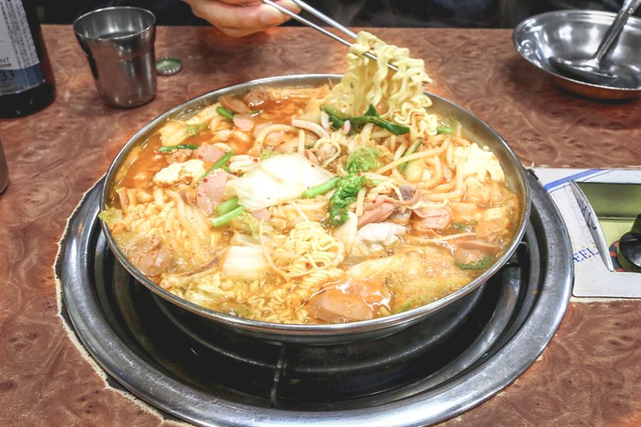 Geumgang Bogeul Bogeul - 40-Year Old Restaurant Specialising In Seokkeo Jjigae (Squid Stew) At Myeongdong Seoul
