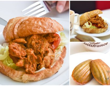 Délifrance Singapore – NEW Chicken Rendang Croissant Burger. Sedap nia!