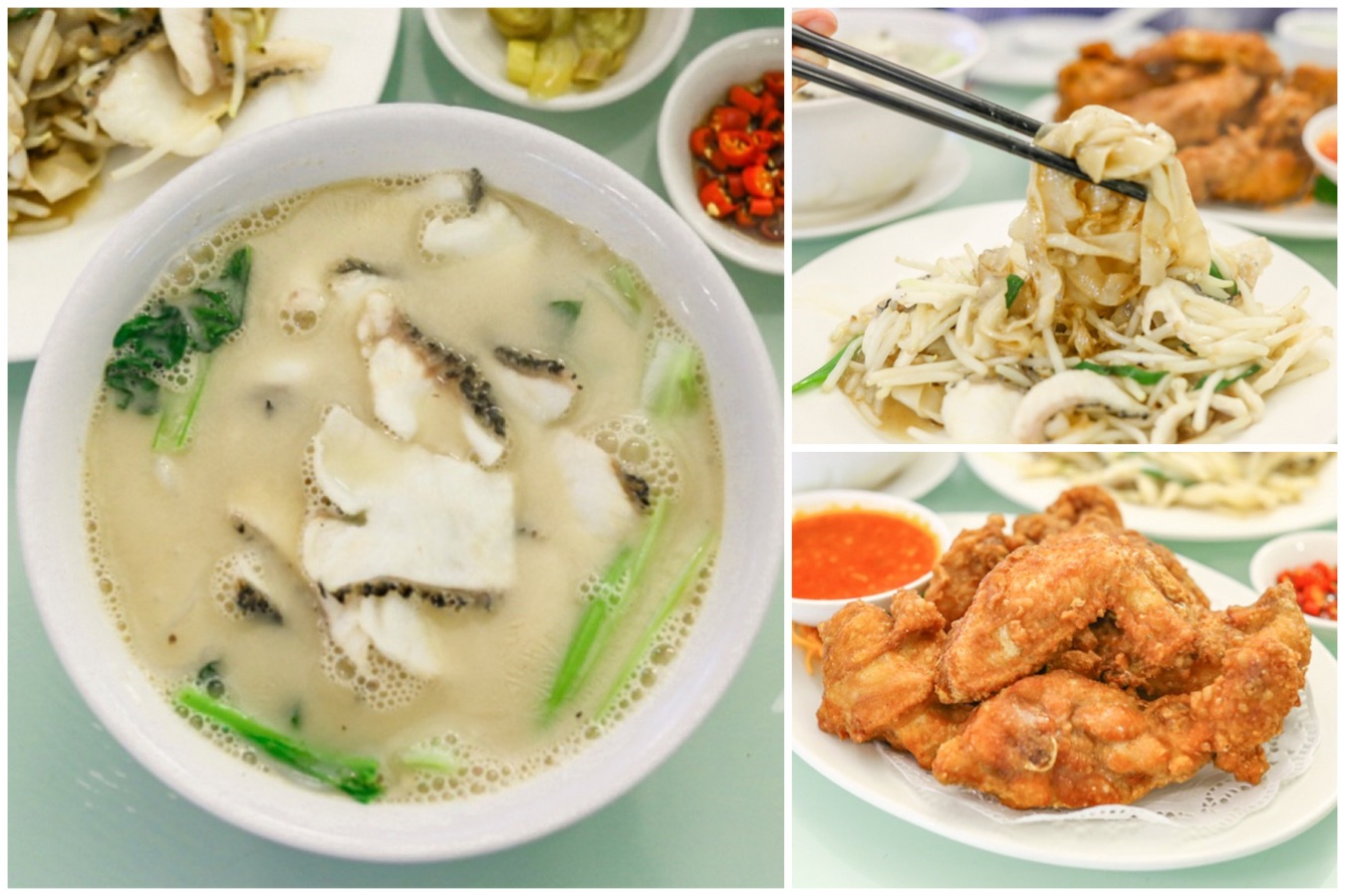 Ka-Soh Restaurant - For Sliced Fish Soup And Prawn Paste Chicken. With Michelin Bib Gourmand