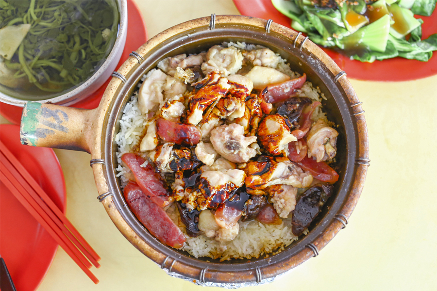 New Lucky Claypot Rice - Traditional Charcoal Fired Claypot Rice At Holland Drive, With Michelin Bib Gourmand
