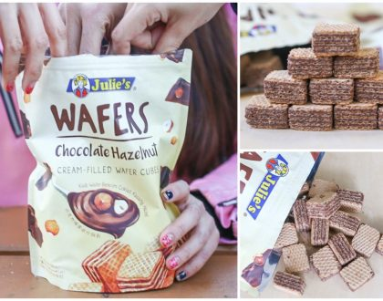 MEET The NEW Julie's Wafers - Chocolate Hazelnut Cream-Filled Wafer Cubes. Plus WIN A Trip To Malacca