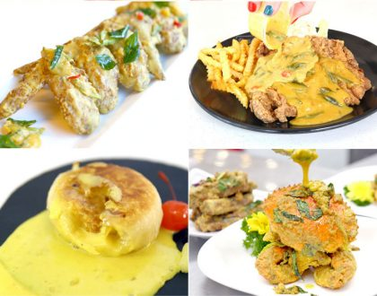 "12 Salted Egg ""National Dishes"" In Singapore - Crabs, Prata, Carrot Cake. Salted Egg Shiok!"