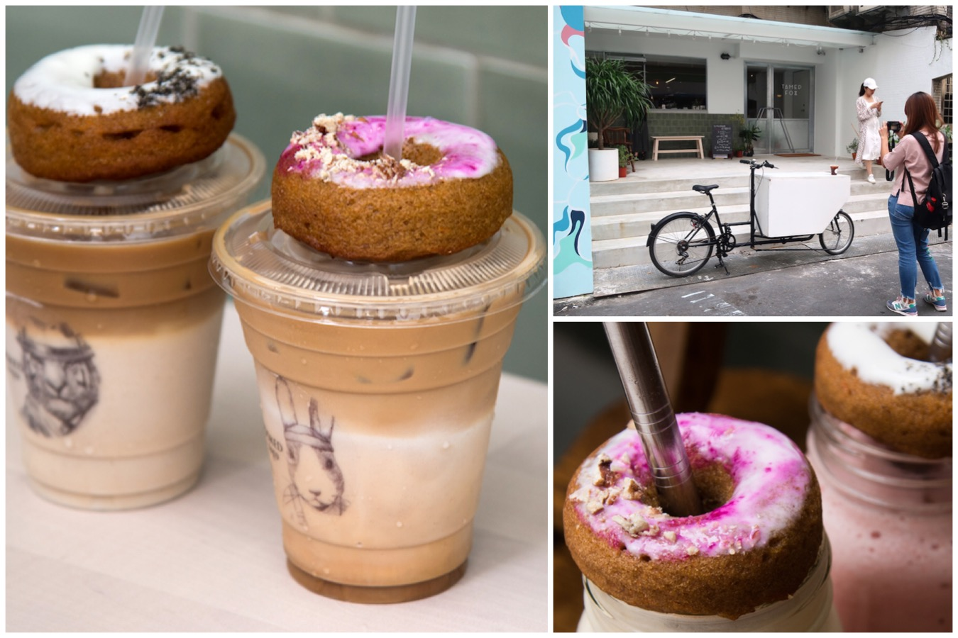 Tamed Fox - Hot NEW Café At Taipei, Healthy Donuts On Latte