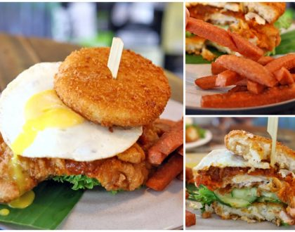 The Beast – The Real Nasi Lemak Burger With Rice Buns, Huge Crispy Chicken And Luncheon Meat Fries
