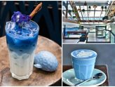 "Blue Whale Maharaj – Azure Blue Latte In Bangkok ""Blue"" Me Away. Café All Dressed In Blue"