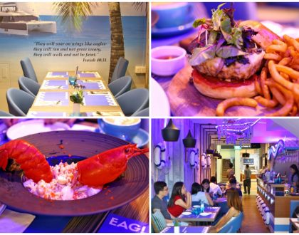 EagleWings Loft – Blue Nautical Themed Café With Italian-Asian Food, At King Albert Park