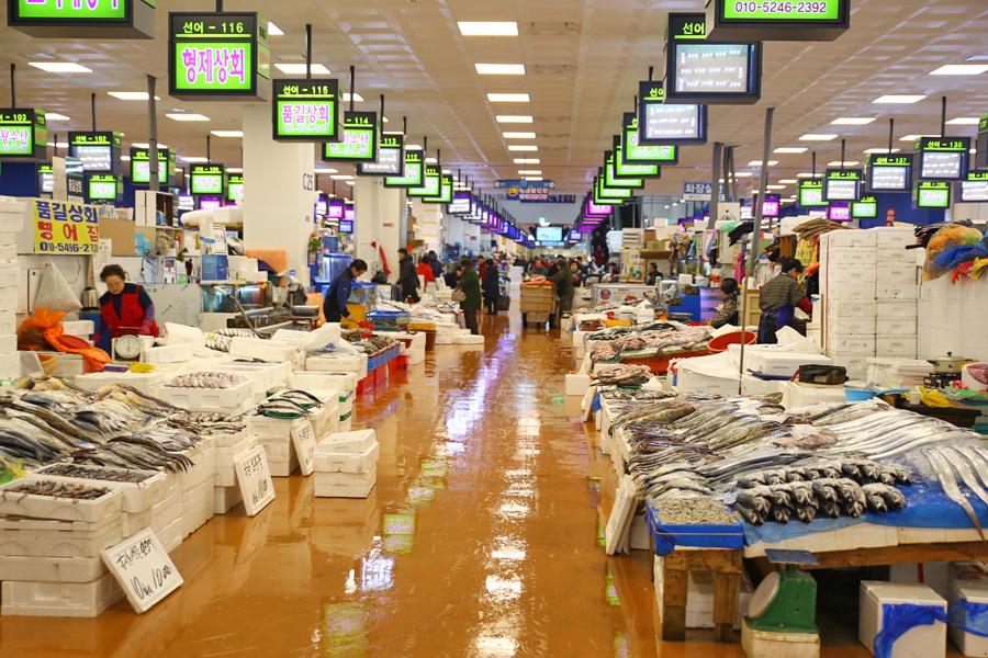 Noryangjin fish market one of korea 39 s largest seafood for Fish market hours