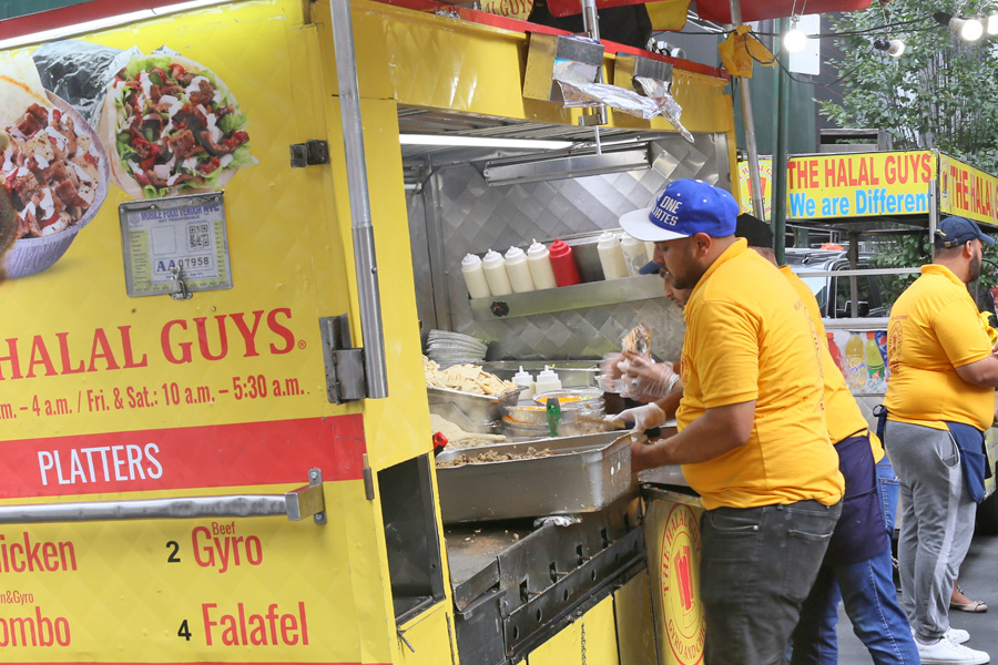 The Halal Guys Food Truck Power In Nyc Chicken Over Rice And That