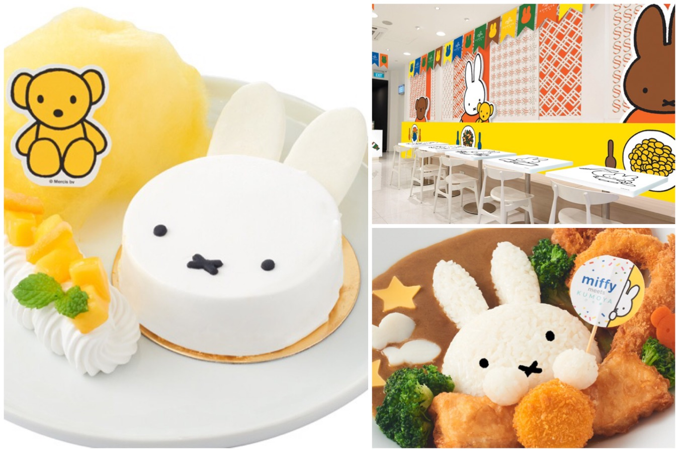 Miffy Café - Famous Rabbit Hopping To Singapore From October, At Halal Café Kumoya. So CUTE!