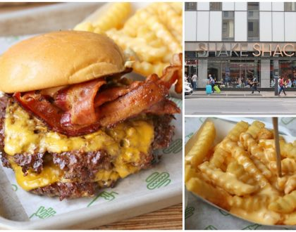 Shake Shack – That Iconic Burger From New York City. For The ShackBurger, Crinkle Cut Fries And Shakes