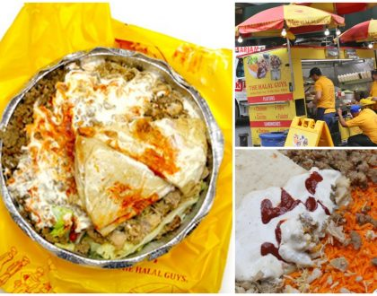The Halal Guys - Food Truck Power In NYC. Chicken Over Rice and That Magical White Sauce