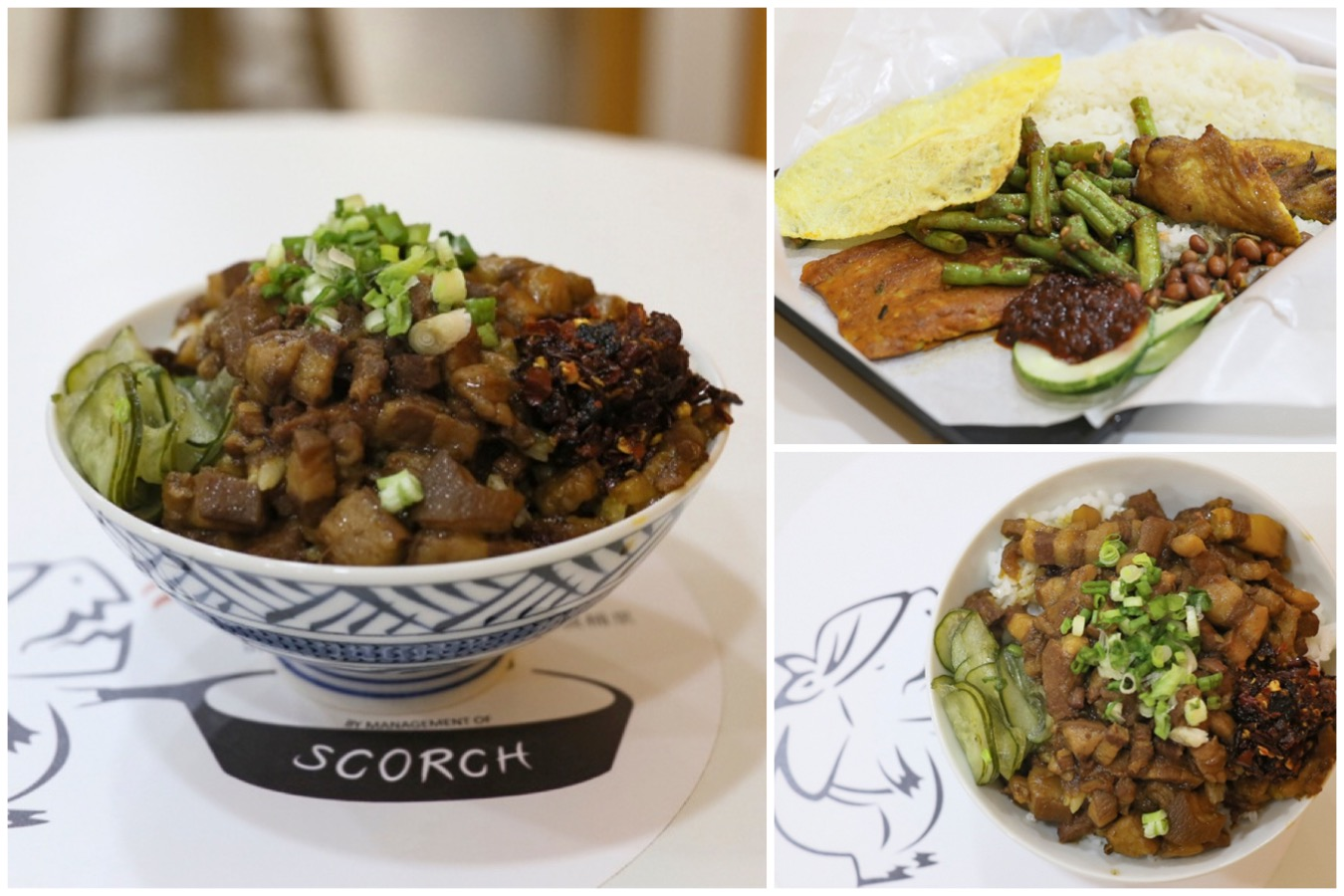Scorch 一把火 - $3 Taiwanese Lu Rou Fan And Nasi Lemak Sets At Clifford Centre, Raffles Place