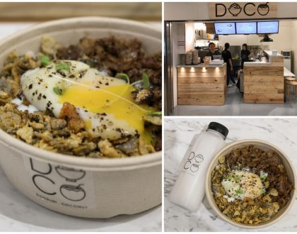 DOCO – Grilled Beef And Chicken Bowls Added With Fish Skin, At International Plaza