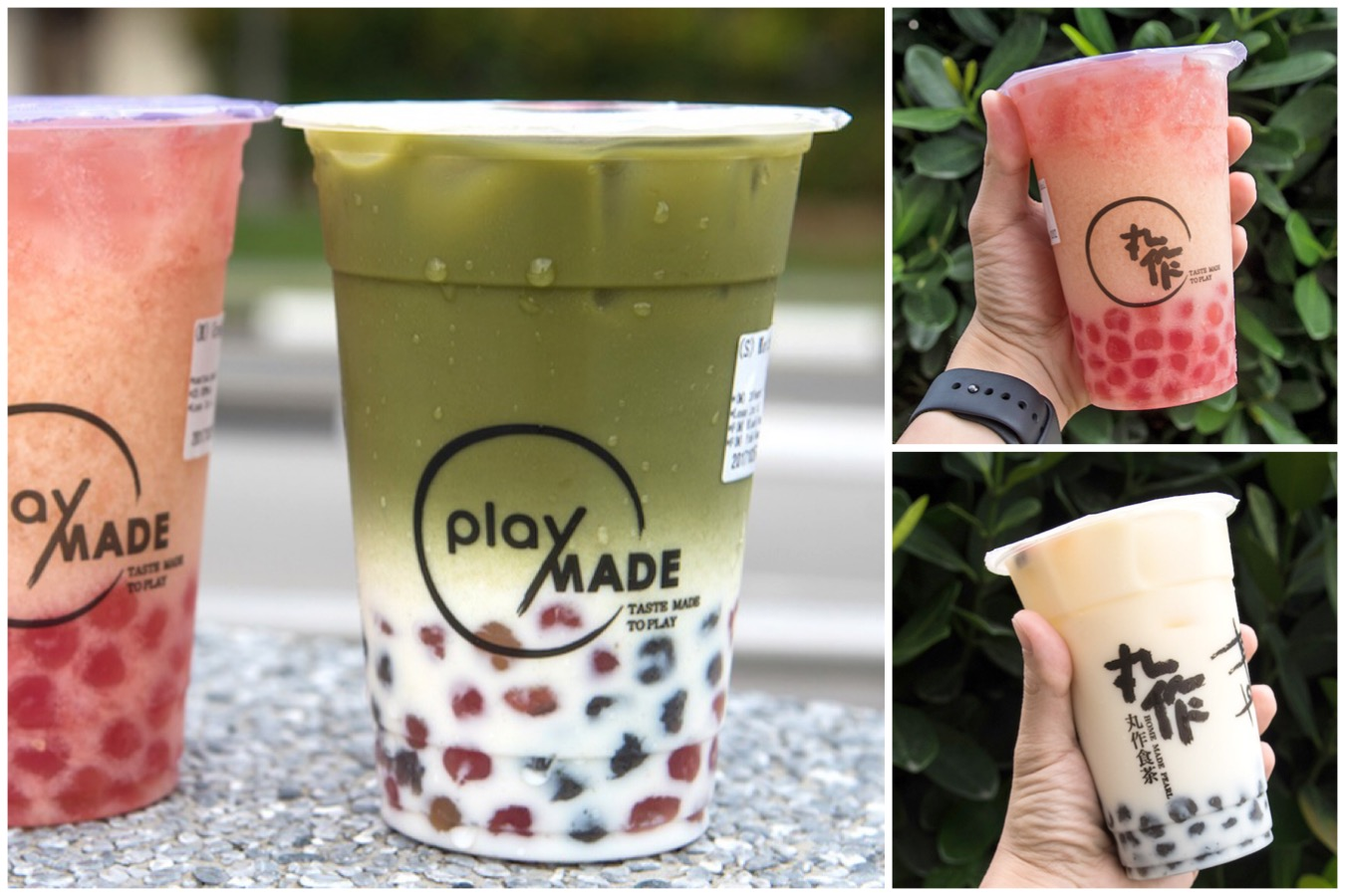 PlayMade by 丸作 - Popular Taiwanese Bubble Tea Shop With Unique Flavoured Pearls, At Tampines One