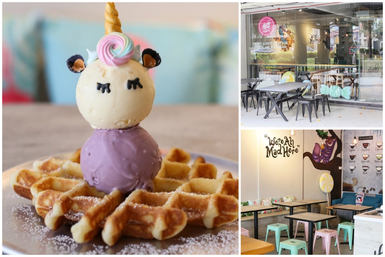 Hatter Street – NEW Café At Crawford Lane, Serving Unicorn Waffles