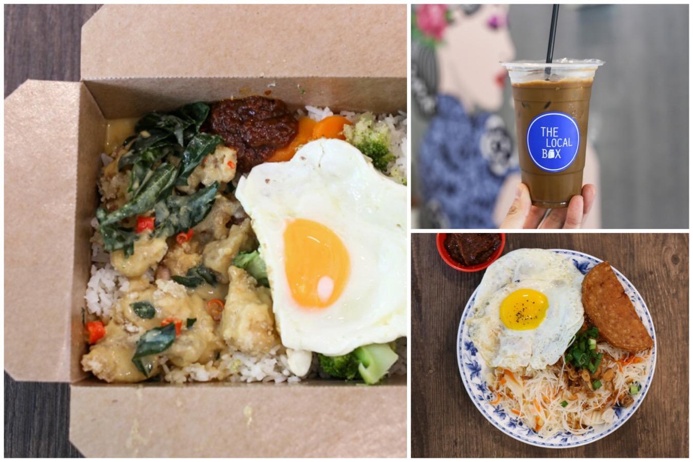 The Local Box - Satay Chicken Nasi Lemak And Salted Egg Chicken Rice At Tanjong Pagar