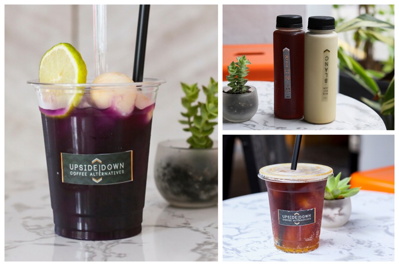 Upside Down Coffee Alternatives - Ultra Violet Lychee, Cold Drip & Tonic At Amoy Street
