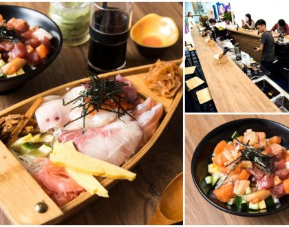 The BetterShip - Sashimi Don In A Wooden Ship Bowl, Donburi Shop Sails Into The Cathay