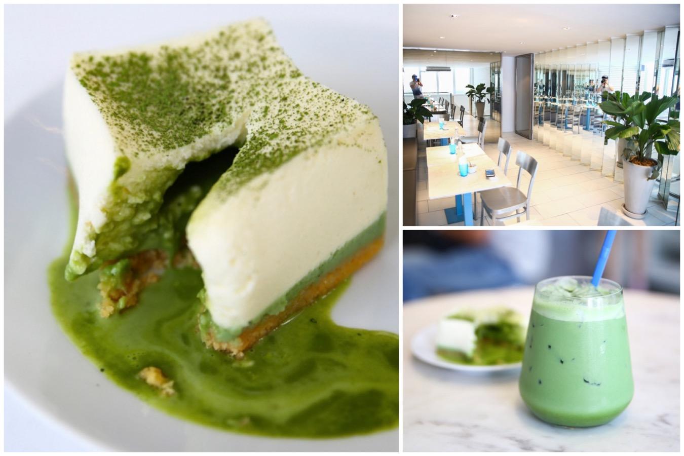 Kaizen Coffee Co. - All White Interior, With Good Coffee And Matcha Lava Cheesecake. At Ekkamai Bangkok