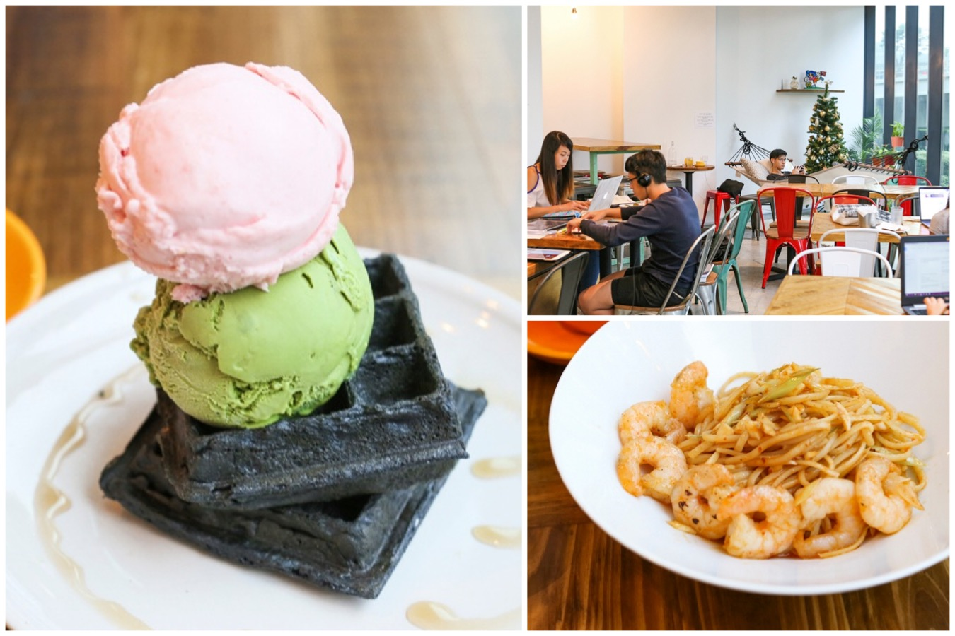 Kindred Folk is a cosy two storey cafe serving up unique handcrafted ice creams, other desserts and interesting fusion pastas. They are all about ice creams and aim to consistently come up with new and exciting flavours.